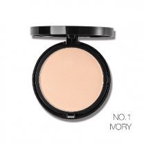 Party Queen 3Color Radiance Smooth Matte Face Pressed Powder No. 1 Ivory