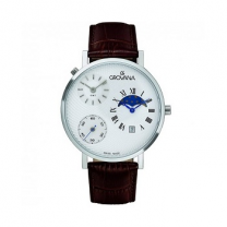 Grovana White Dial Men's Watch