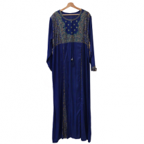 Ideal Fashion embroidery Jalabiya, Blue