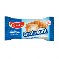 Qbake Croissant Sweet Cheese 1 pkt