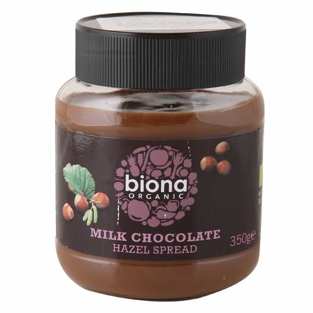 Biona Organic Milk Chocolate Hazel Spread 350gm