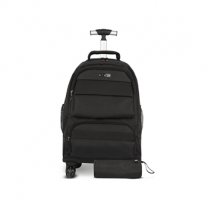 Asak Trolley School Bag- 4 Wheels, Black