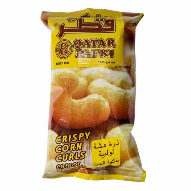 Qatar Pafki Crispy Corn Curls 25GM X 48 Packets Per Bag