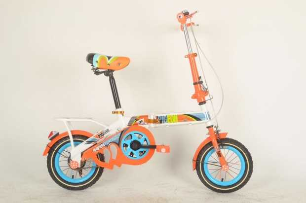 Pigeon 12 Folding Orange Colour Bicycle