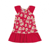 New Summer Cotton Girl Dress, Red