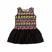 Spring Summer Kids Vestido, Black
