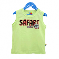 Tank Top for Boy, Yellow Green