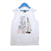 Summer Tank Top For Boy, White