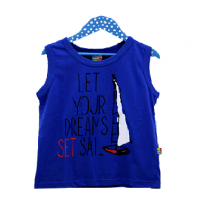 Summer Tank Top For Boy, Blue