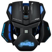 Gaming Mouse Phantom 9500 Dpi Laser With Macro, Blue