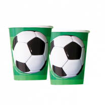 Football Paper Party Cups 270ml