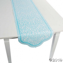 Light Blue Wedding Table Runner