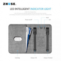 Zhuse Power Bank And Card Wallet, Assorted