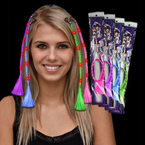 LED Light Up Braided Hair Extension