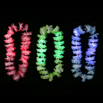 Led Silk Flower Leis Assorted