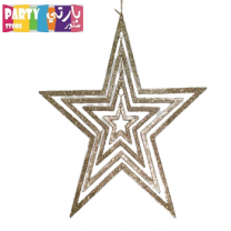 Hanging Glitter Star Large