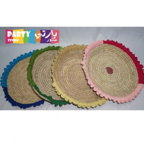 Traditional Straw Basket, Assorted Color