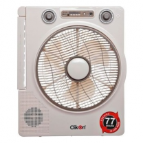 "Clikon Rechargeable Fan 12""+ Music Player CK2802"