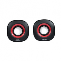 Clikon Computer Speaker CK2904 Oval Shape With Red & Black
