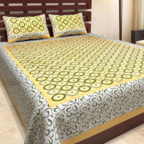 Nari - Cotton Printed Double Bedsheet With Pillow Cover-P96JP14CE0B02
