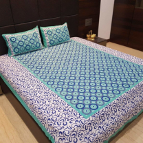 Nari - Cotton Printed Double Bedsheet With Pillow Cover-P96JPF1C42331