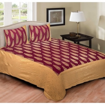 Cotton Printed Double Bedsheet With Pillow Cover-P72JP07D56068
