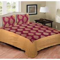 Cotton Printed Double Bedsheet With Pillow Cover-P72JP7EE8457F
