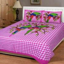 WCL - Cotton Printed Double Bedsheet With Pillow Covers-I34JP8490DB64