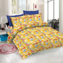 WCL - Cotton Printed Double Bedsheet With Pillow Covers-I34JP75232BE3