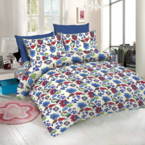 WCL - Cotton Printed Double Bedsheet With Pillow Covers-I34JPE8E8A46B