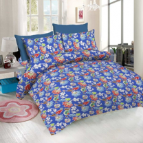 WCL - Cotton Printed Double Bedsheet With Pillow Covers-I34JP0BE41250