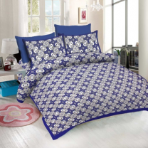 WCL - Cotton Printed Double Bedsheet With Pillow Covers-I34JPC7648DFB
