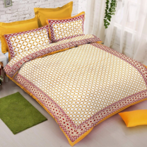 WCL - Cotton Printed Double Bedsheet With Pillow Covers-I34JPAD4713B7