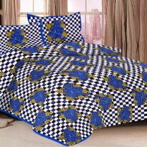 Priyam - Cotton Printed Double Bedsheet With Pillow Cover-Z21JP42055D2B