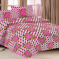 Priyam - Cotton Printed Double Bedsheet With Pillow Cover-Z21JPE36A4CB6