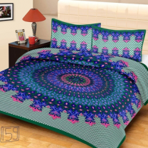 Priyam - Cotton Printed Double Bedsheet With Pillow Cover-Z21JPCD7C682D