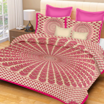Priyam - Cotton Printed Double Bedsheet With Pillow Cover-Z21JPE479E361