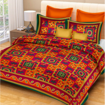 Priyam - Cotton Printed Double Bedsheet With Pillow Cover-Z21JP882445E6