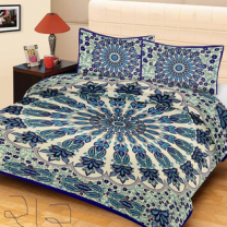 Priyam - Cotton Printed Double Bedsheet With Pillow Cover-Z21JPA4194D64