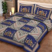 Priyam - Cotton Printed Double Bedsheet With Pillow Cover-Z21JP8FE46A62