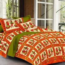 Priyam - Cotton Printed Double Bedsheet With Pillow Cover-Z21JPADF04B80