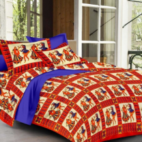 Priyam - Cotton Printed Double Bedsheet With Pillow Cover-Z21JP05E68859