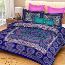 Priyam - Cotton Printed Double Bedsheet With Pillow Cover-Z21JPBE10BE4E