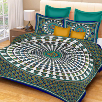 Priyam - Cotton Printed Double Bedsheet With Pillow Cover-Z21JP66E73B96
