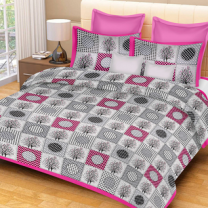 Priyam - Cotton Printed Double Bedsheet With Pillow Cover-Z21JP0A0E40CB