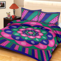 Priyam - Cotton Printed Double Bedsheet With Pillow Cover-Z21JPB9A5B9E1
