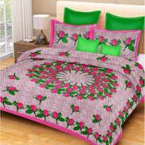 Priyam - Cotton Printed Double Bedsheet With Pillow Cover-Z21JPF50487C7