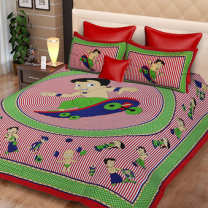 Priyam - Cotton Printed Double Bedsheet With Pillow Cover-Z21JPAA72A87A