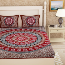 Priyam - Cotton Printed Double Bedsheet With Pillow Cover-Z21JP2C0DA7A0