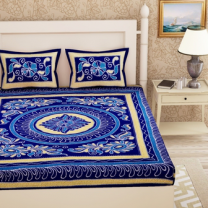 Priyam - Cotton Printed Double Bedsheet With Pillow Cover-Z21JP82F5FBEF